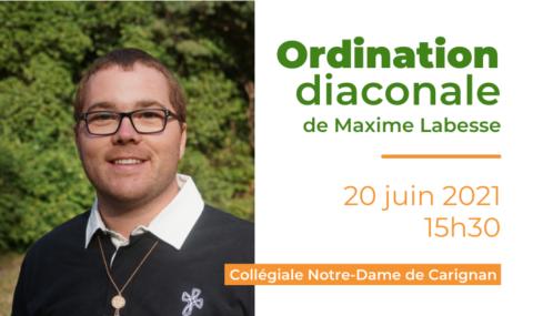 Diffusion de la messe d'ordination diaconale de Maxime Labesse