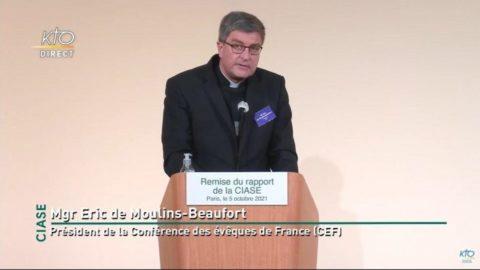 Réception du rapport de la Commission indépendante sur les abus sexuels dans l'Église : allocution de Mgr Éric de Moulins-Beaufort